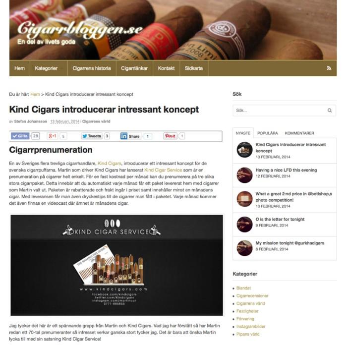 Cigarrbloggen.se hittade Kind Cigar Service!