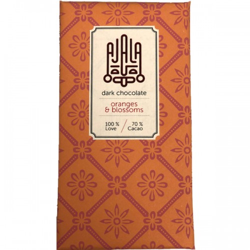 Ajala Apelsin och Blomster 70% mörk choklad - 45g