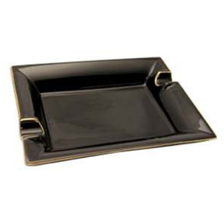 Black ashtray