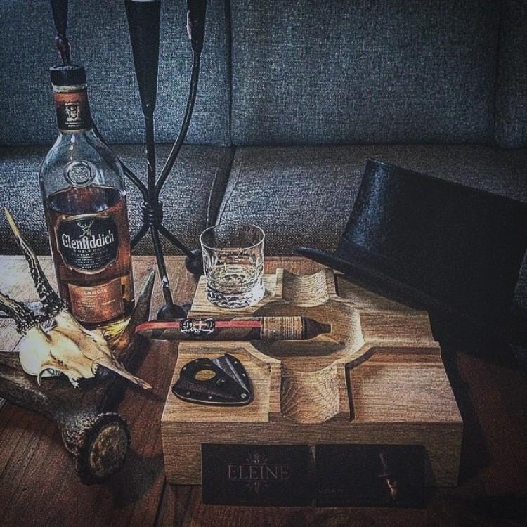 Kind Cigars wooden ashtray