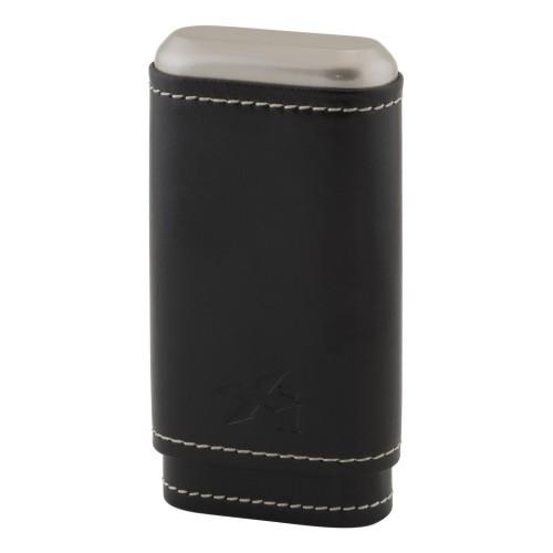 Xikar Envoy läderfodral för 3 cigarrer - svart