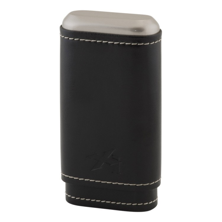 Xikar Envoy leather case for 3 cigars - black
