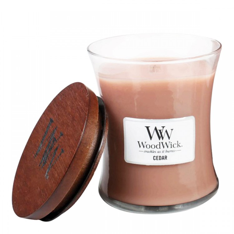 WoodWick doftljus medium - Cedar