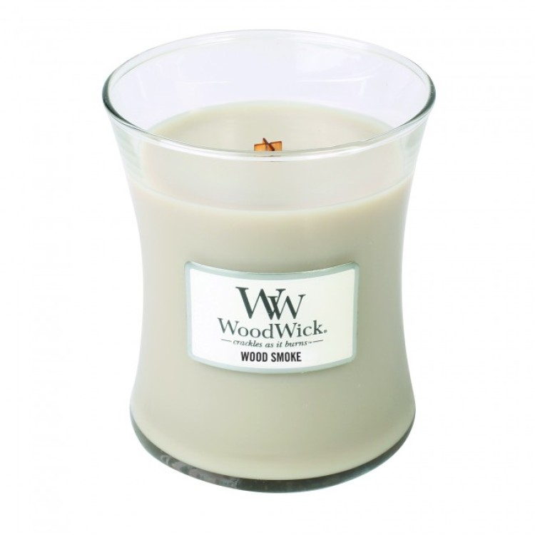 WoodWick scented candle medium - Wood Smoke
