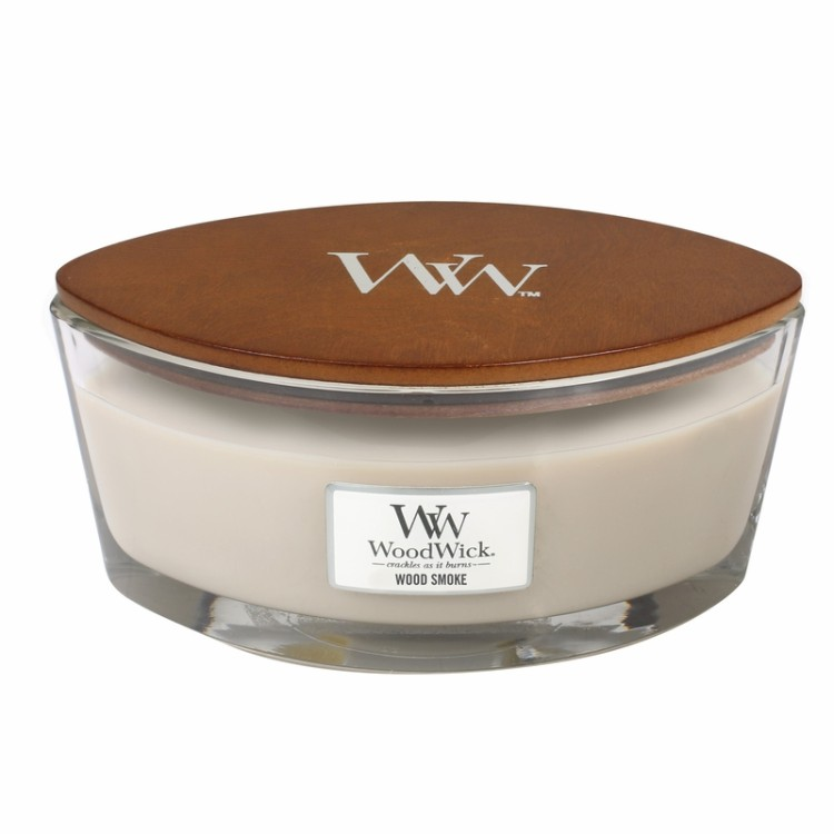 WoodWick HeartWick doftljus extra large - Wood Smoke