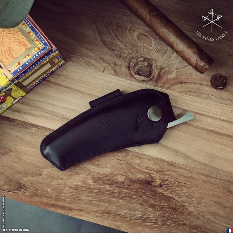 Les Fines Lames cigar knife sheath - black