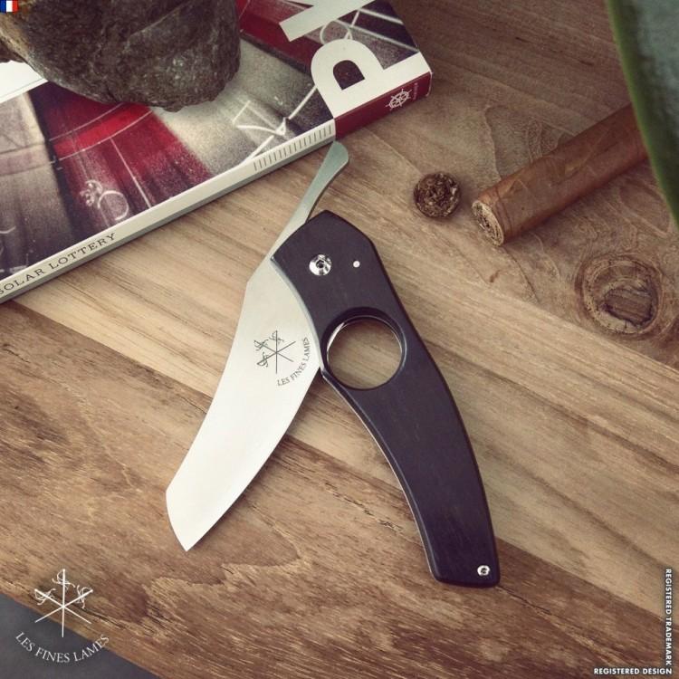 Les Fines Lames cigar knife -  Ebony edition