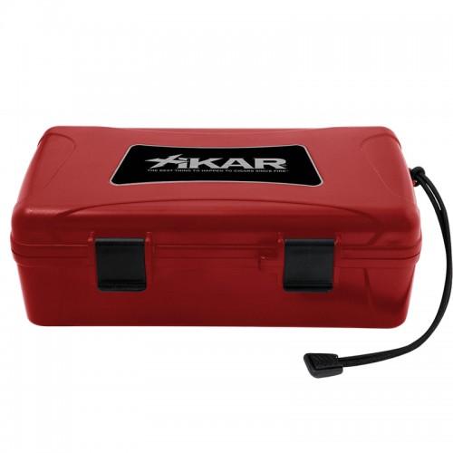 Xikar travel humidor for 10 cigars - red