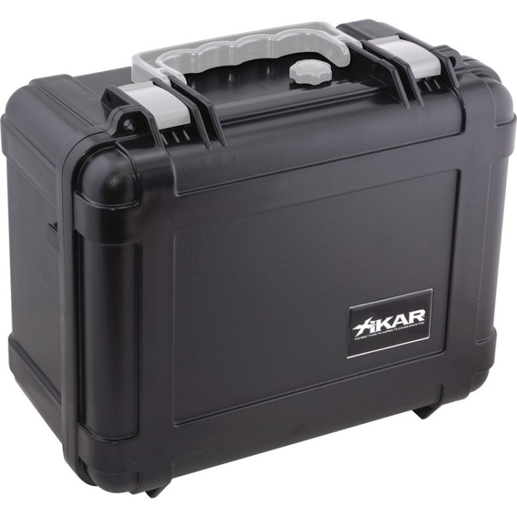 Xikar travel humidor for 50-80 cigars - black