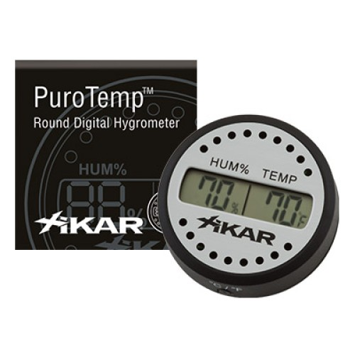 Xikar digital hygrometer - rund