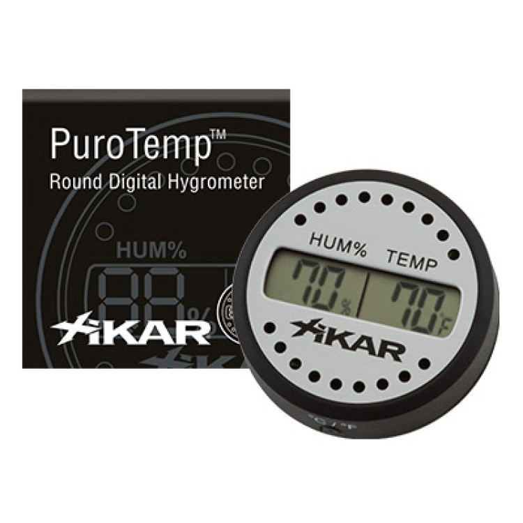 Xikar digital hygrometer - round