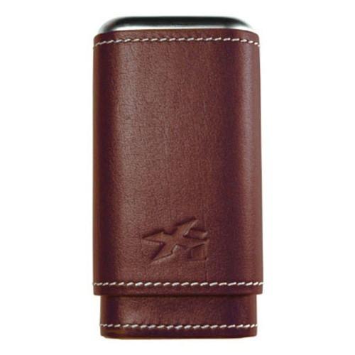 Xikar Envoy läderfodral för 3 cigarrer - brun