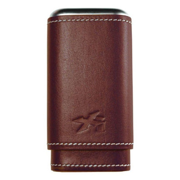Xikar Envoy leather case for 3 cigars - brown