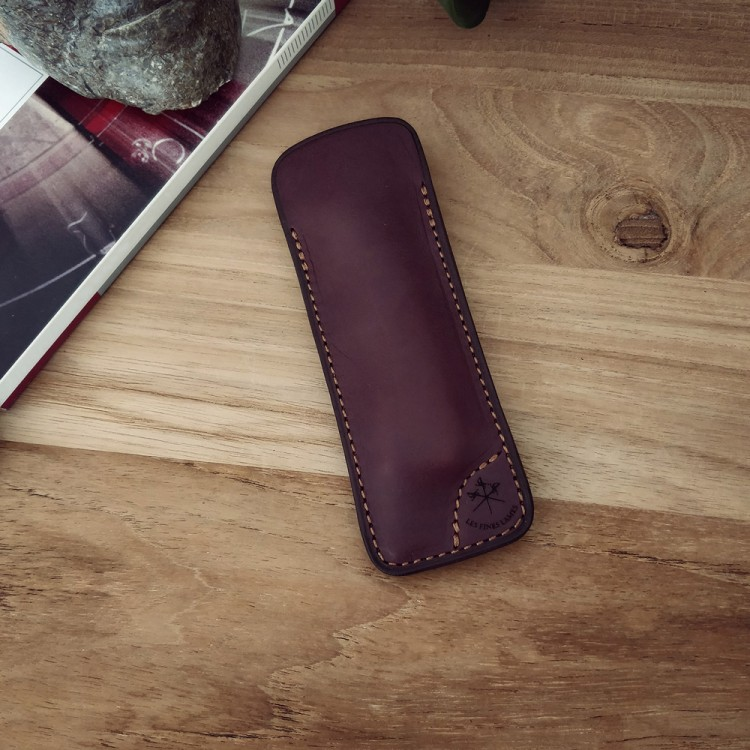 Les Fines Lames Le Petit Cigar Knife Sheath - Burgundy