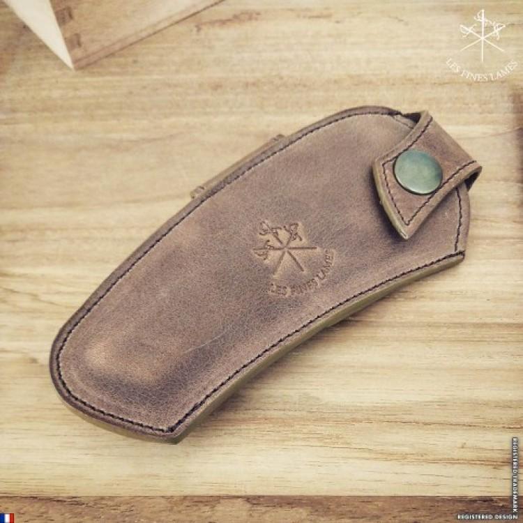 Les Fines Lames cigar knife sheath - brown