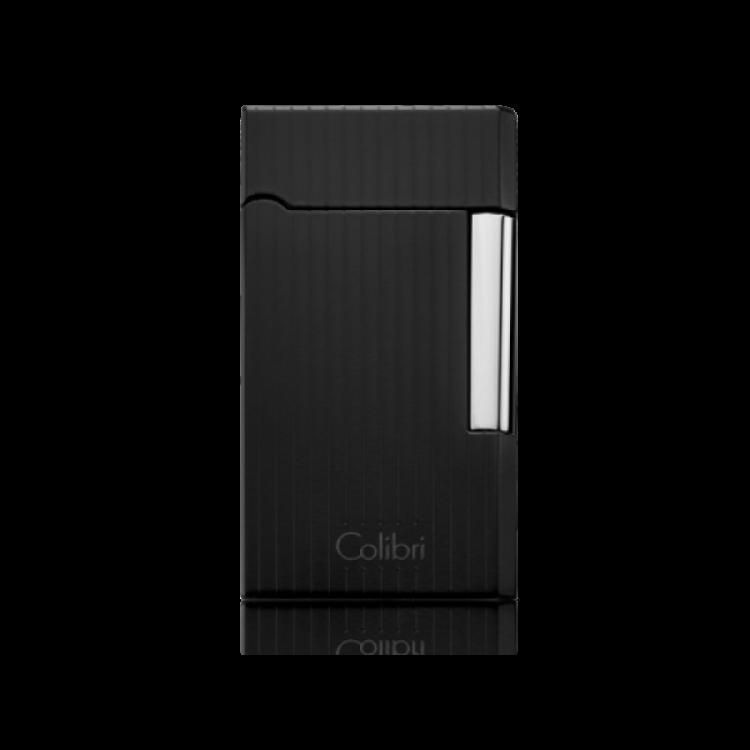 Colibri Wellington - soft flame lighter - black/silver