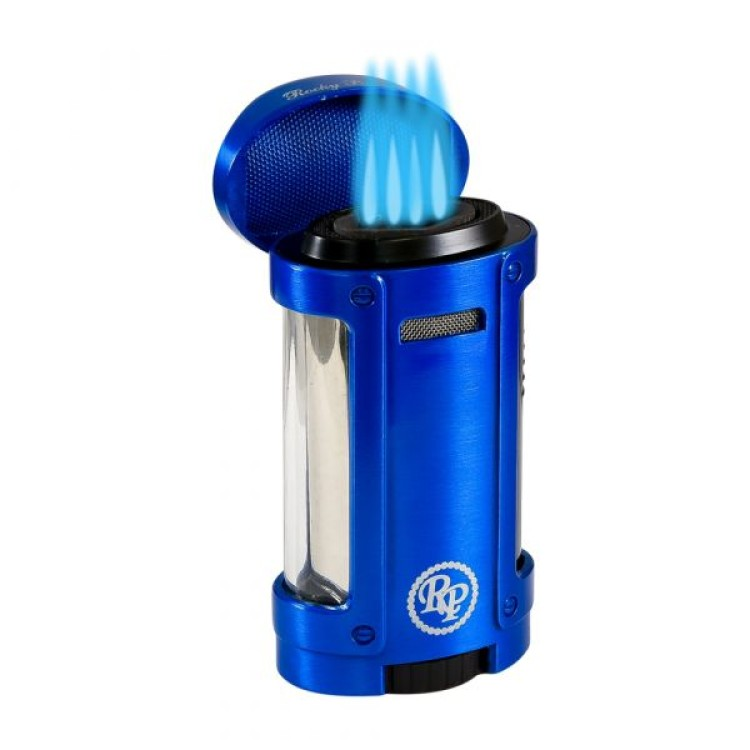 Rocky Patel Odyssey - 4 torch lighter with cigar stand - blue
