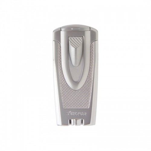 Xikar Axia double torch lighter - silver