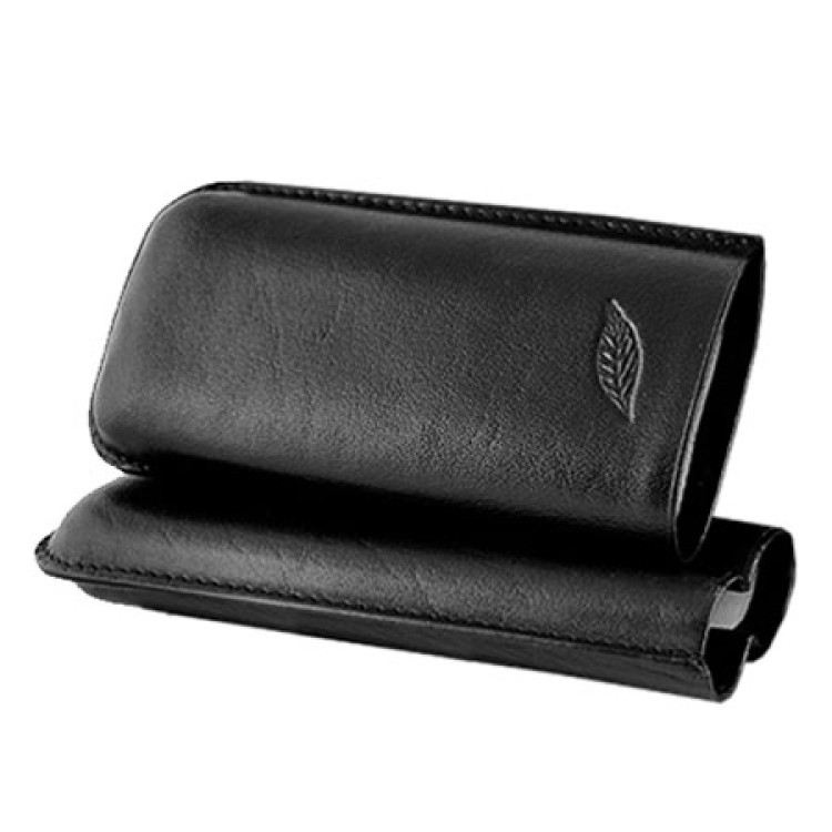 The Leaf - Case for 2 cigars - black