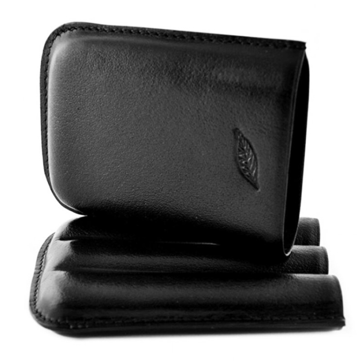 The Leaf - Case for 3 cigars - black