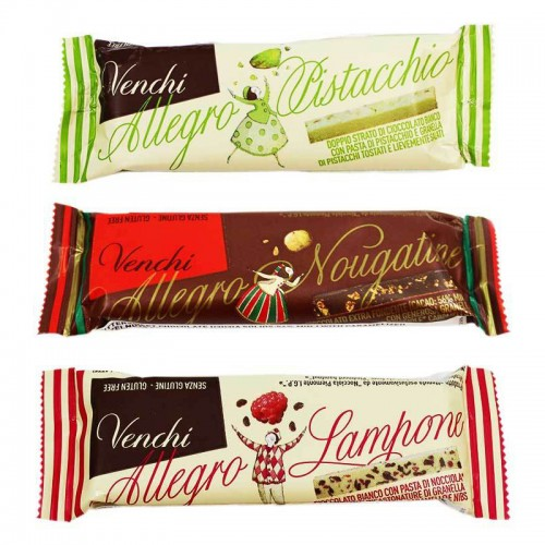 Venchi snack bars 3-pack - 3 x 25g