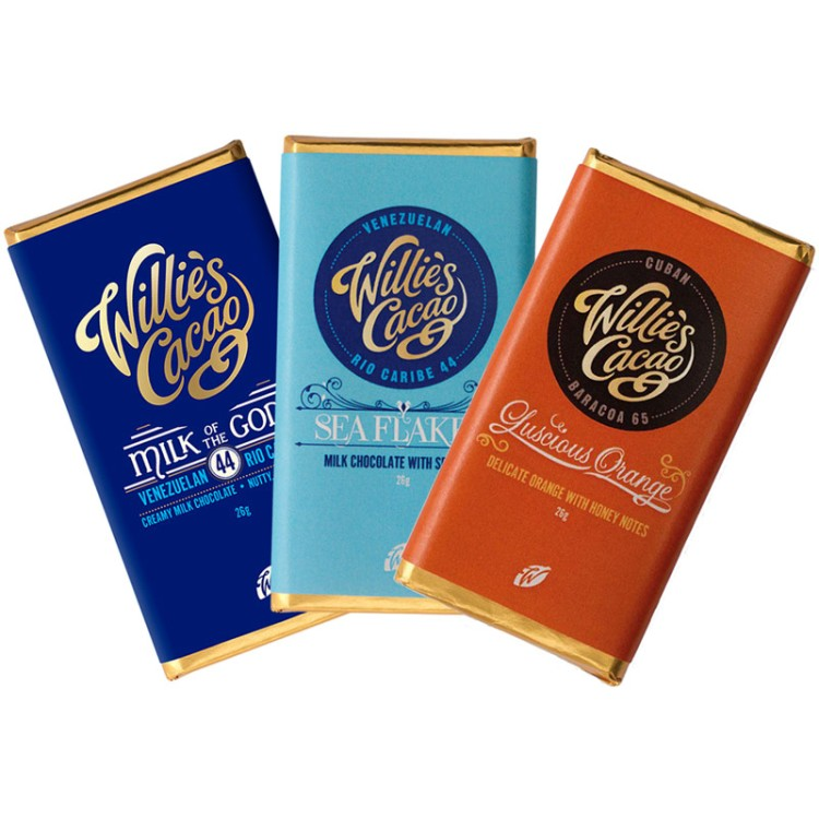 Willies Cacao - Mini 3-pack - 3 x 26g