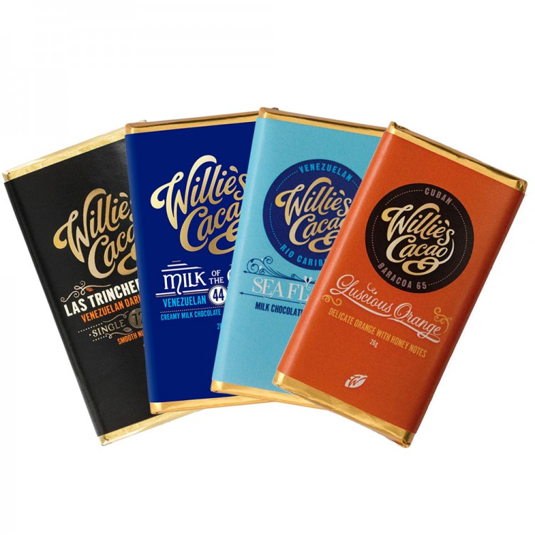 Willies Cacao - Mini 4-pack - 4 x 26g